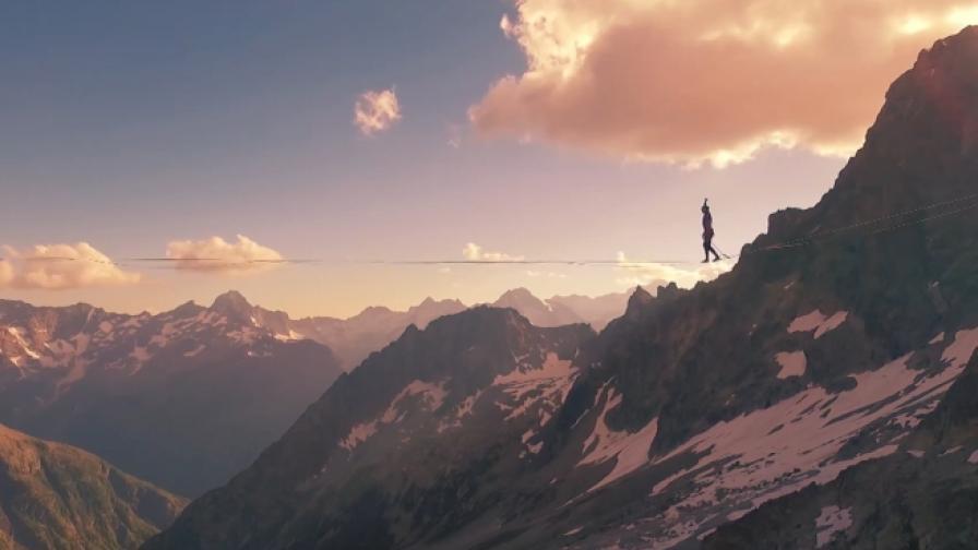 Смелостта да балансираш на 3 000 м височина