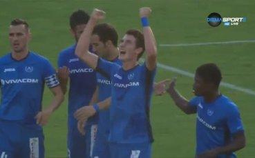 Божидар Краев от Левски срещу Верея за 2:0