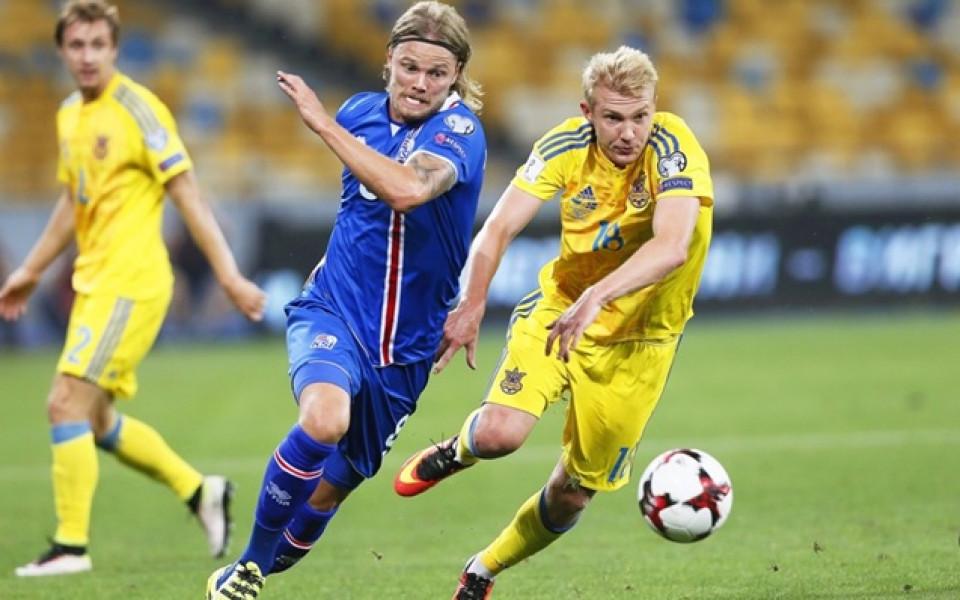 Исландия развали дебюта на Шевченко начело на Украйна