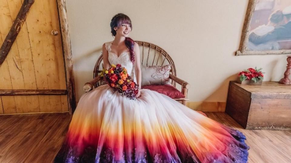Омбре сватбена рокля? Защо не!