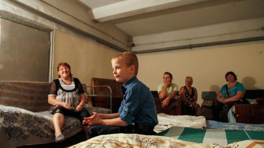 Живот в бомбоубежище в Донецк, Украйна