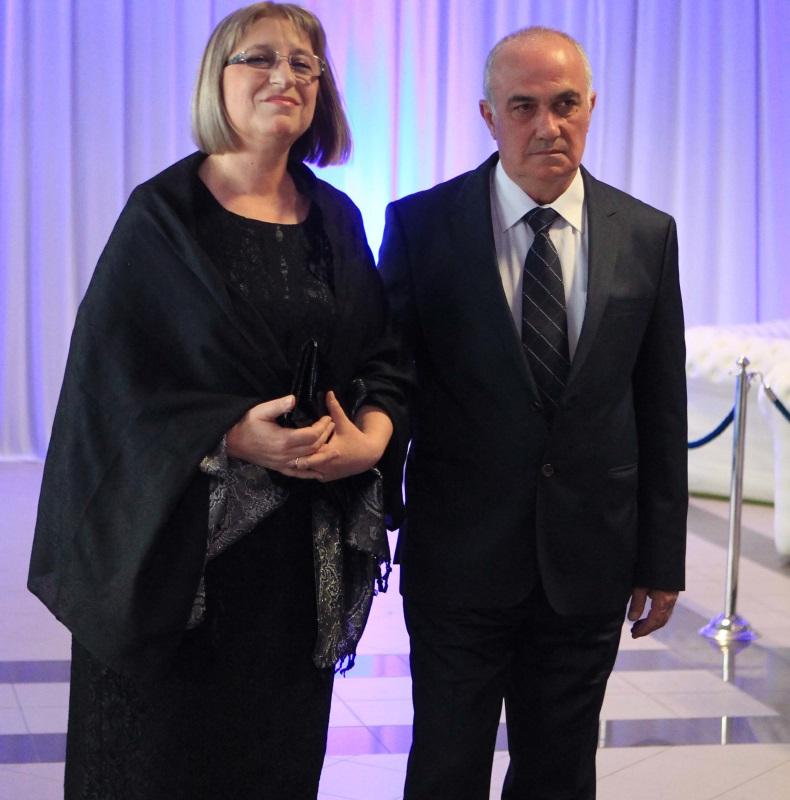 Цецка Цачева със съпруга си архитект Румен Данговски