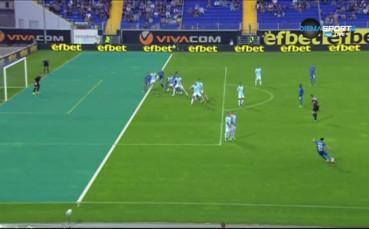 От засада ли е вторият гол на Левски срещу Дунав?