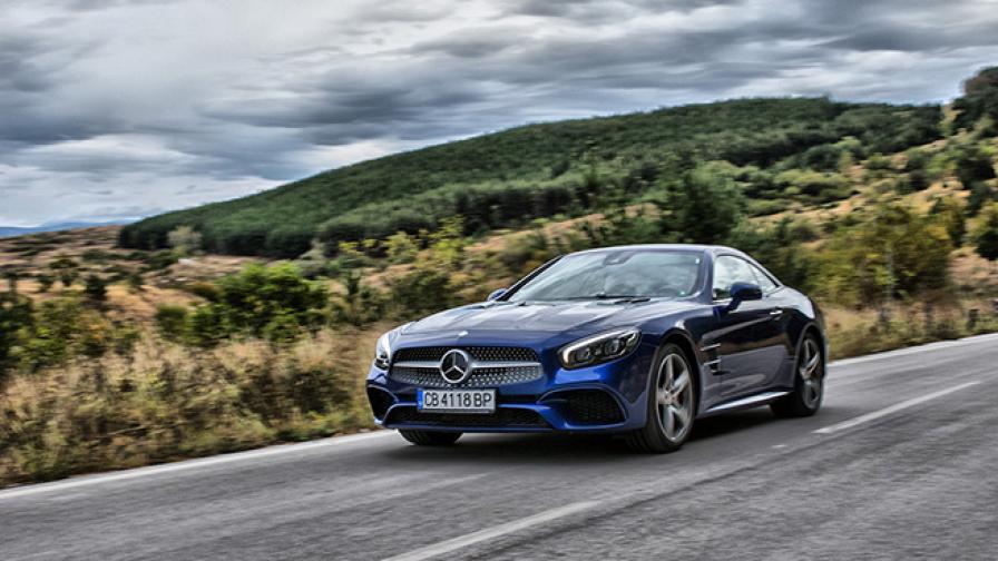 Его(истично)центрично изживяване в Mercedes-Benz SL500 (тест драйв)