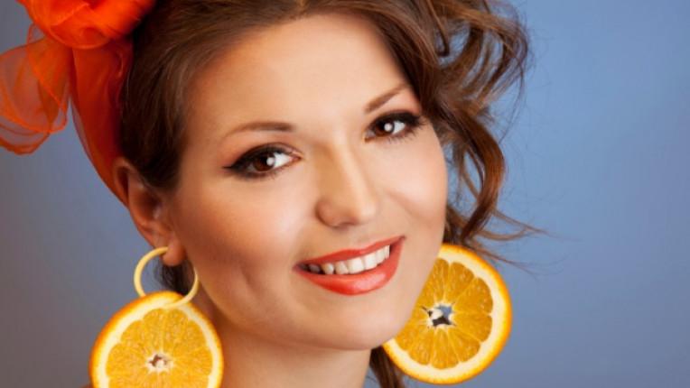 жена обеци плодове аксесоари