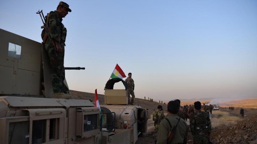 """Кюрдски бойци """"пешмерга"""" участват в битката за Мосул"""