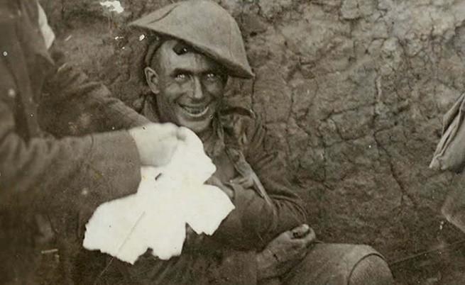 Войник, изживяващ следвоенен шок, 1916 г.