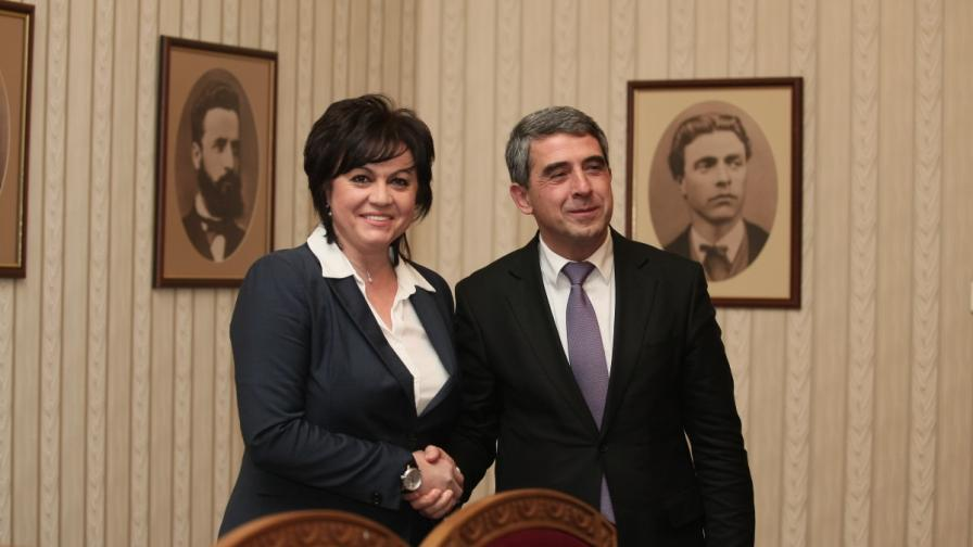 Корнелия Нинова и Росен Плевнелиев