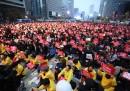 Половин милион излязоха на протест в Южна Корея