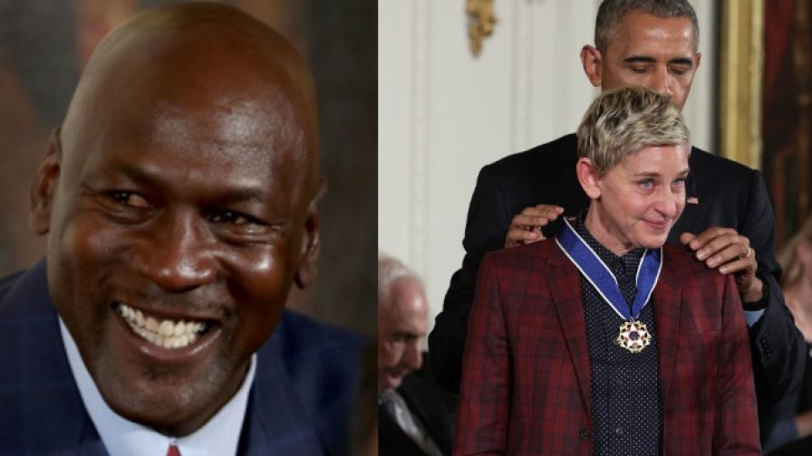 Обама просълзи Майкъл Джордан и Елън ДеДженерис