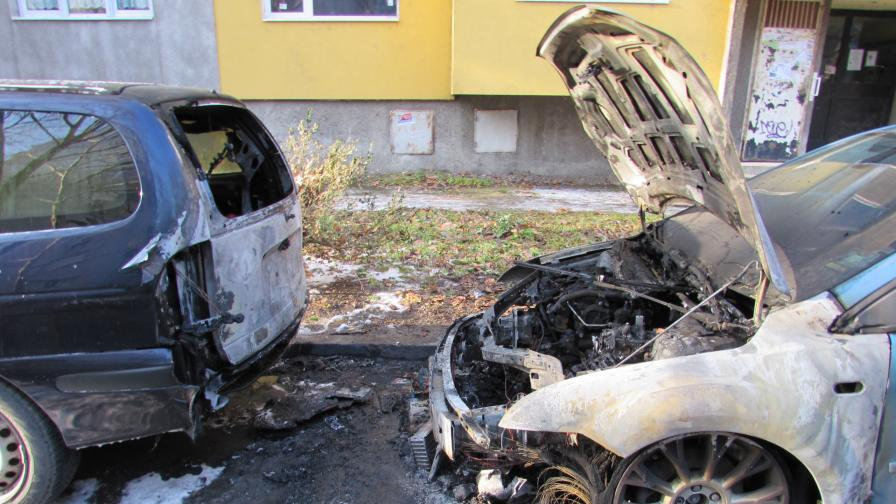 Запалиха колата на Бисер Миланов-Петното