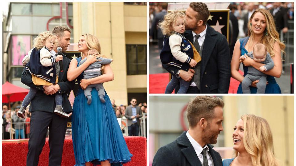 Като в приказка: Блейк Лайвли и Райън Рейнолдс заедно с децата си на червения килим