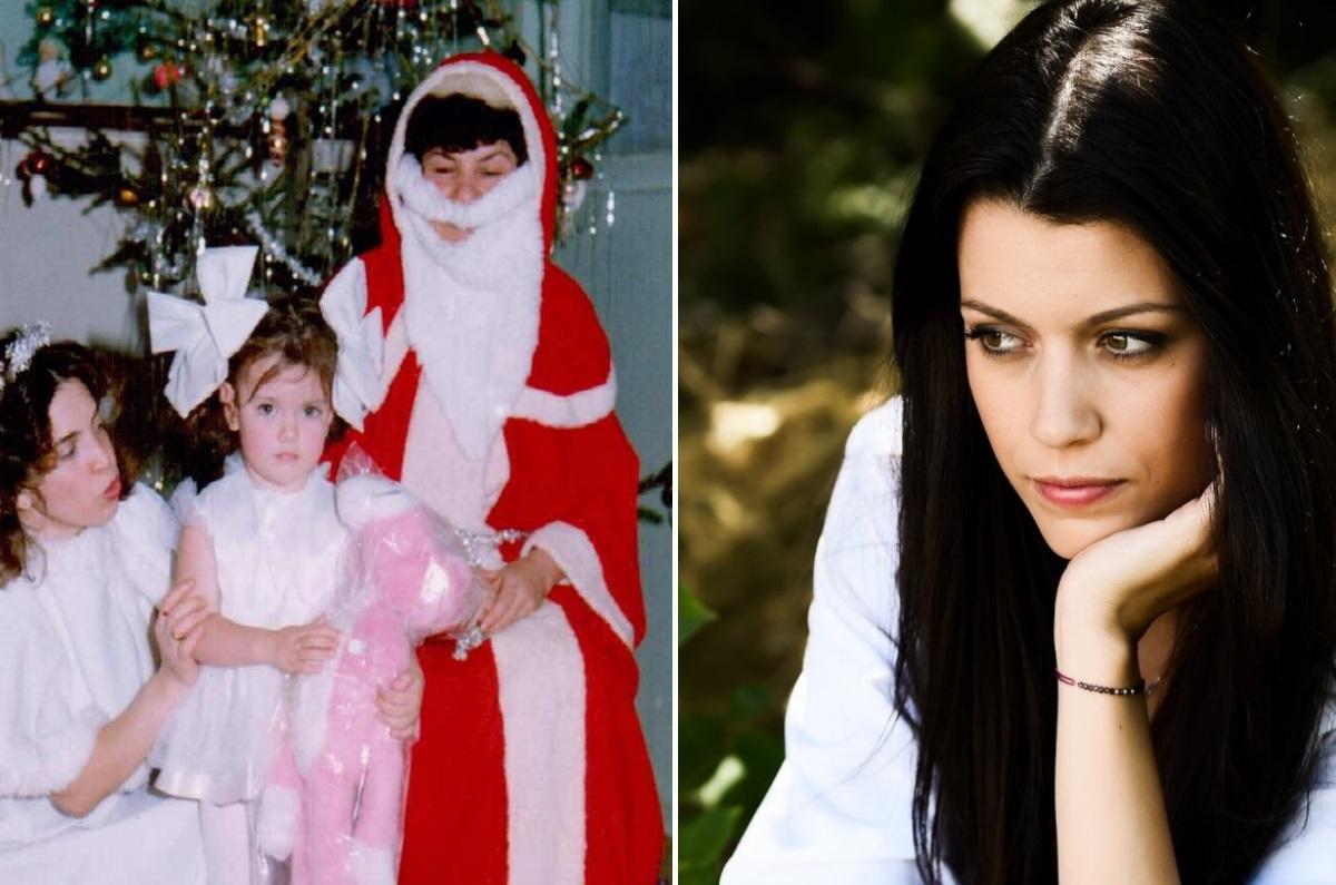 """Попитахме Ралица Паскалева какво е Коледа за нея, а тя ни каза: """"Коледа за мен е време за семейството ми, за мирис на портокали, за люлеещия се стол пред камината, любов, топлина и смирение"""". Ралица с усмивка отбелязва, че на снимката дядо Коледа е жена"""
