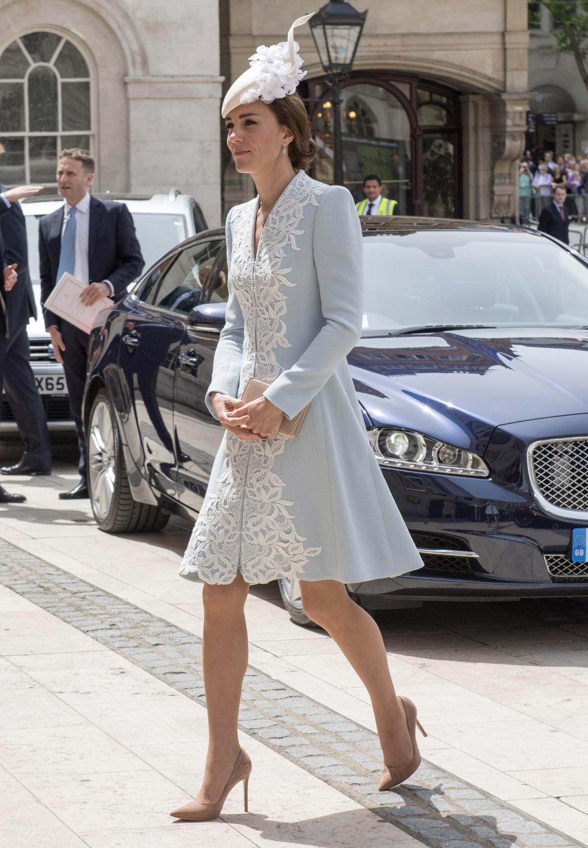 Кейт Мидълтън по време на празненствата по случаи 90-ия рожден ден на кралица Елизабет