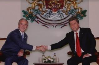 10 юни 2007 г. Среща на двамата президенти - Георги Първанов и Джордж У. Буш, в Гербовата зала