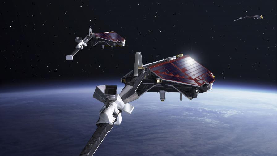 Илюстрация на сателитите Swarm