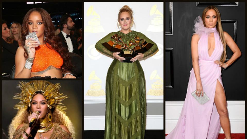 """Впечатляващите тоалети от наградите """"Грами"""" 2017"""