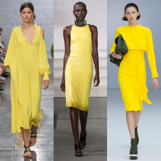50 нюанса жълто - Категоричният победител при цветовете е жълтото. Бледо, патешко, ярко..., абсолютно всички нюанси на този слънчев цвят са модерни. Нямате никакви оправдания да го пренебрегвате през новия моден сезон.