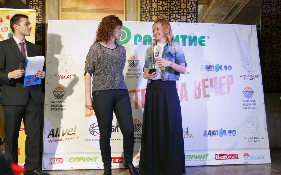 Радостина Димитрова и Борислава Христова номер 1 при баскетболистките