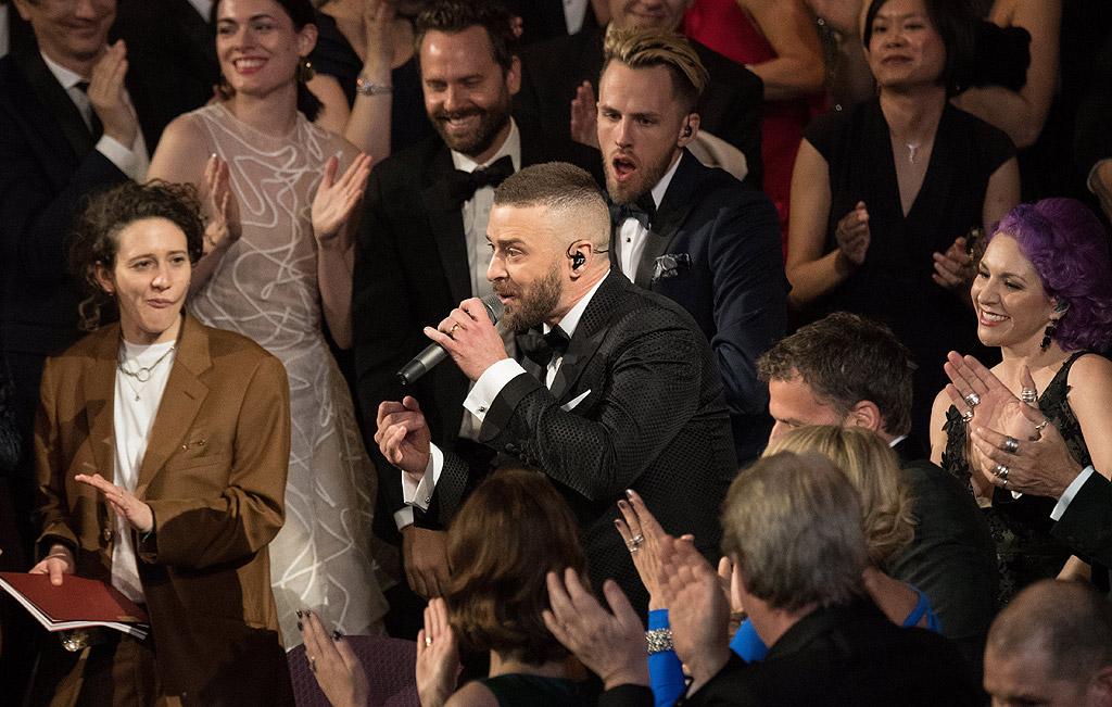 """Джъстин Тимбърлейк откри церемонията с песента от филма """"Тролчета"""" - номинирана тази вечер"""