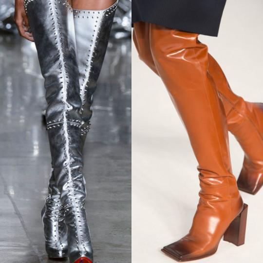 Чизми през пролетта: Обикновено се наслаждаваме на високите ботуши над коляното през зимата, но този път дизайнерите са решили, че това не е достатъчно. Пролетта също е обута в чизми. Стоят още по-секси на чифт дълги крака, защото може да са боси. Комбинирайте с къси панталонки или мини пола за ултра сексапилна визия.