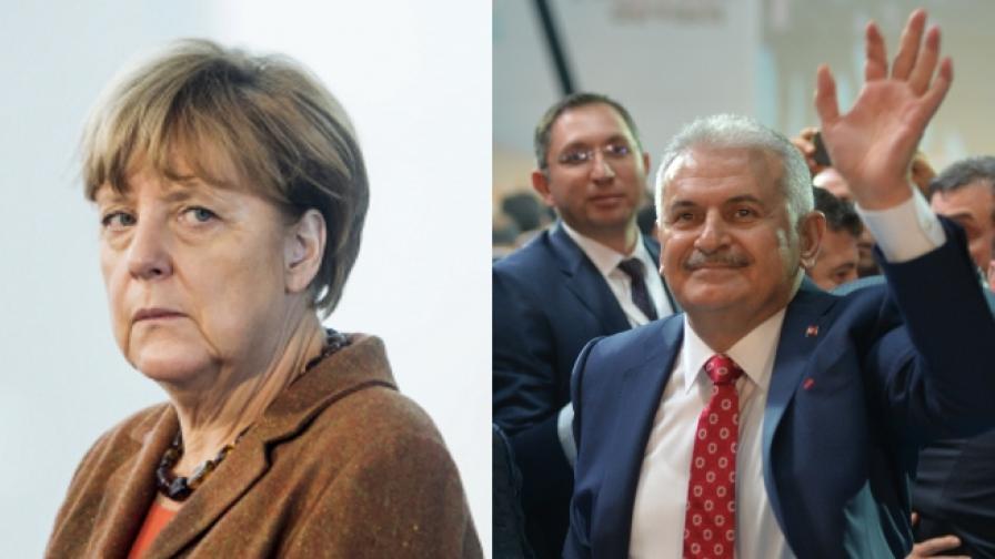 Какво си казаха по телефона Ангела Меркел и турският премиер