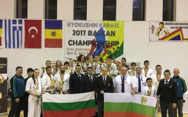 Фурор на българския отбор на Балканското по карате в Румъния
