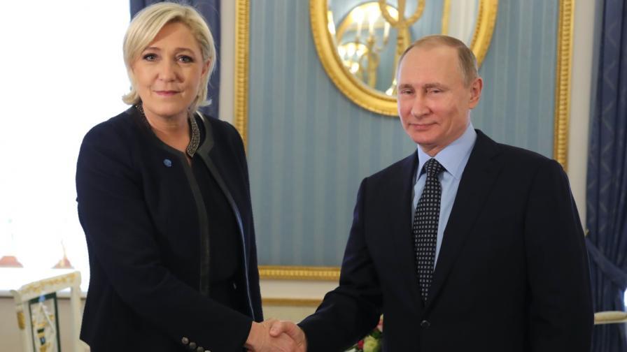 Песков: Русия не подкрепя Льо Пен