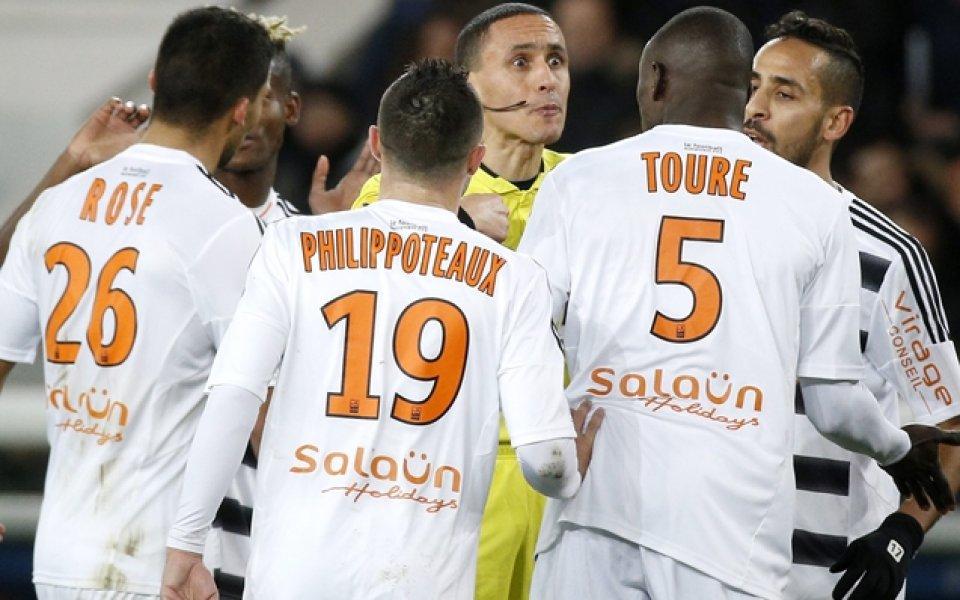 Мачът от френската Лига 1 между Ним и Лориен, който