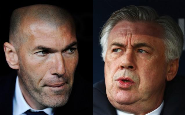 Зинедин Зидан срещу Карло Анчелоти източник: Gulliver/Getty Images