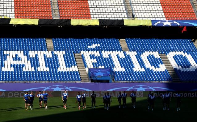 Лестър тренира на Висенте Калдерон източник: Gulliver/Getty Images