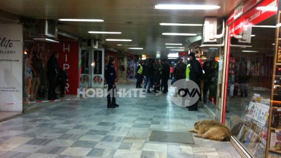 Полицейски оглед след стрелбата в подлеза на Плиска