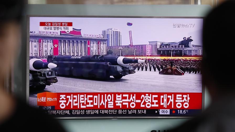 Военният парад по случай 105-тата годишнина на Ким Ир Сен