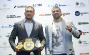 Кубрат Пулев и Кевин Джонсън дадоха официалната си пресконференция преди сблъсъка в Арена Армеец в петък<strong> източник: LAP.bg</strong>