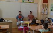 Заедно в час с баскетболните национали Чавдар Костов и Станимир Маринов<strong> източник: БФБ</strong>