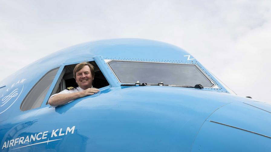 Холандският крал Вилем-Александър - почасов пилот