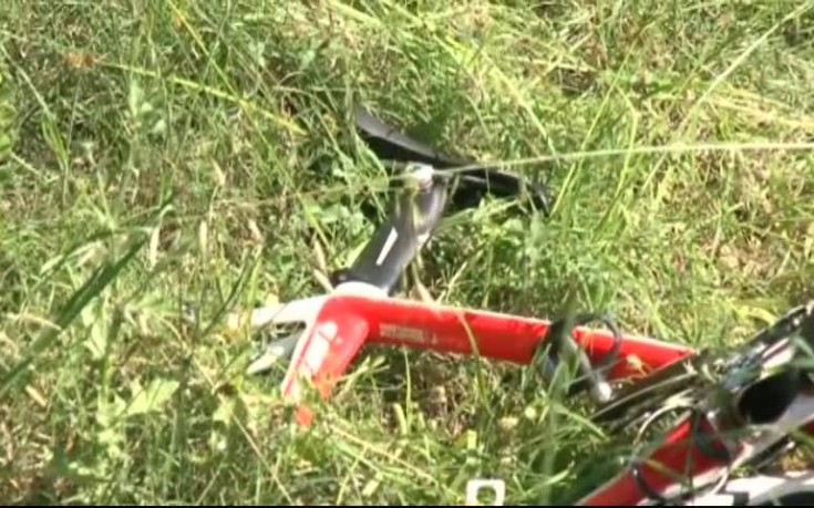 Местопрестъплението: Смачканият велосипед на Хейдън край пътя