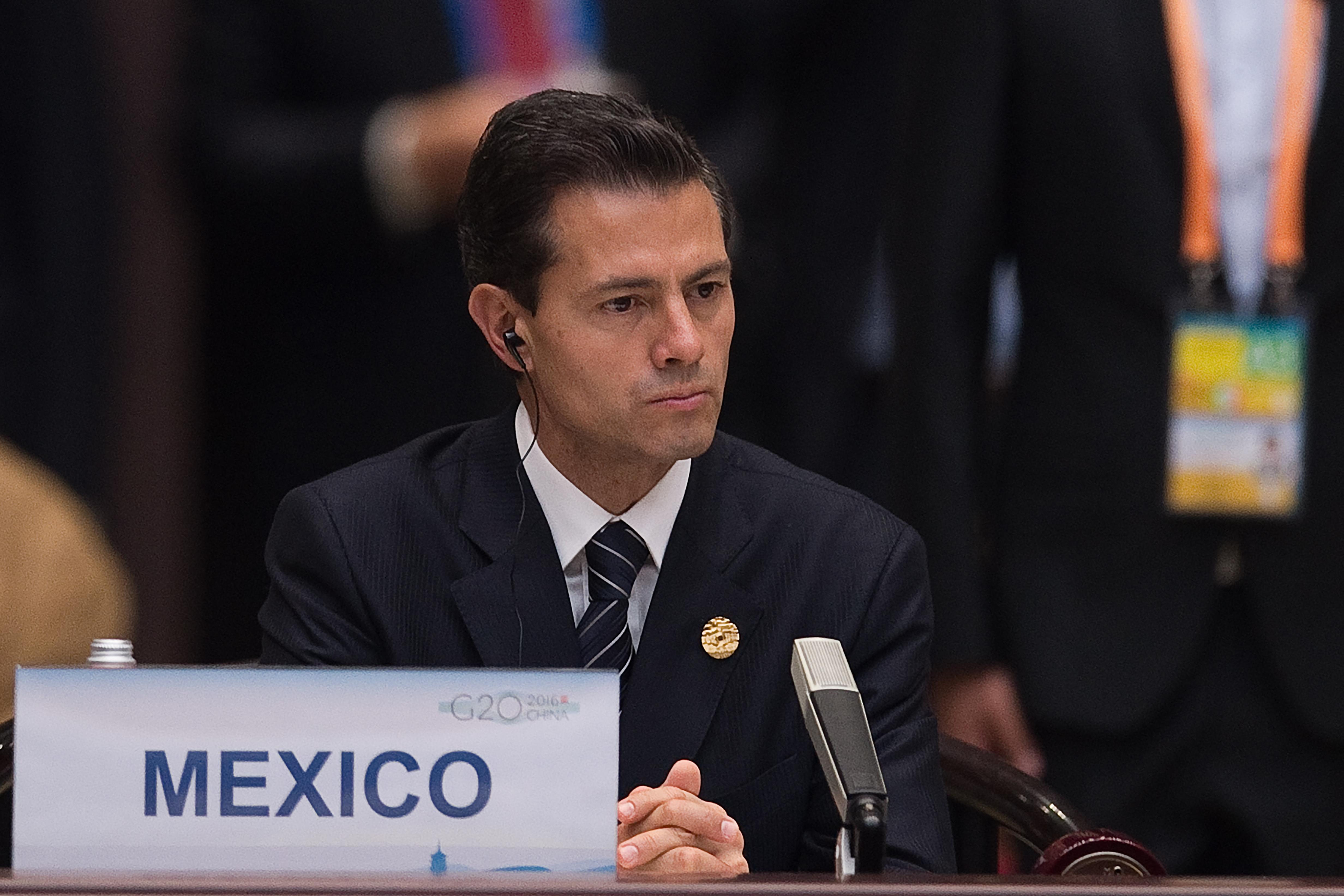 Енрике Пеня Нието, президентът на Мексико