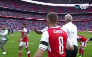 Как се отприщи радостта у Арсенал след последния сигнал