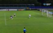 Секунди преди почивката Лудогорец вкара трети гол