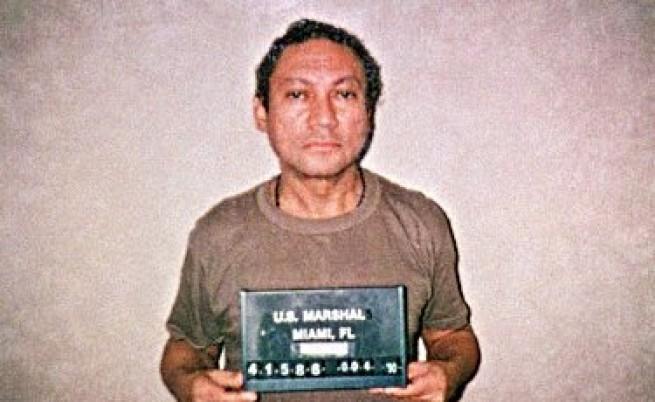 Мануел Нориега при задържането си от американските власти през 1990.