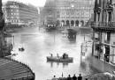 Редки снимки на Париж преди 100 г., потопен под вода