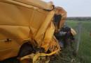 Микробусът, с който са пътували и катастрофирали нелегалните мигранти