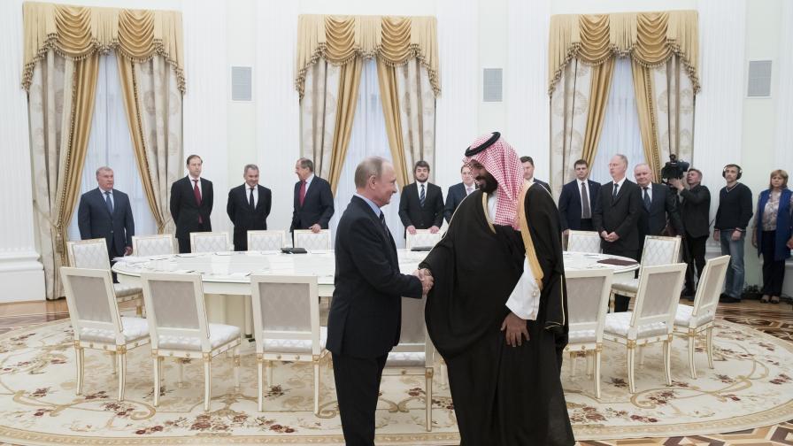 Владимир Путин и принц Мохамед бин Салман