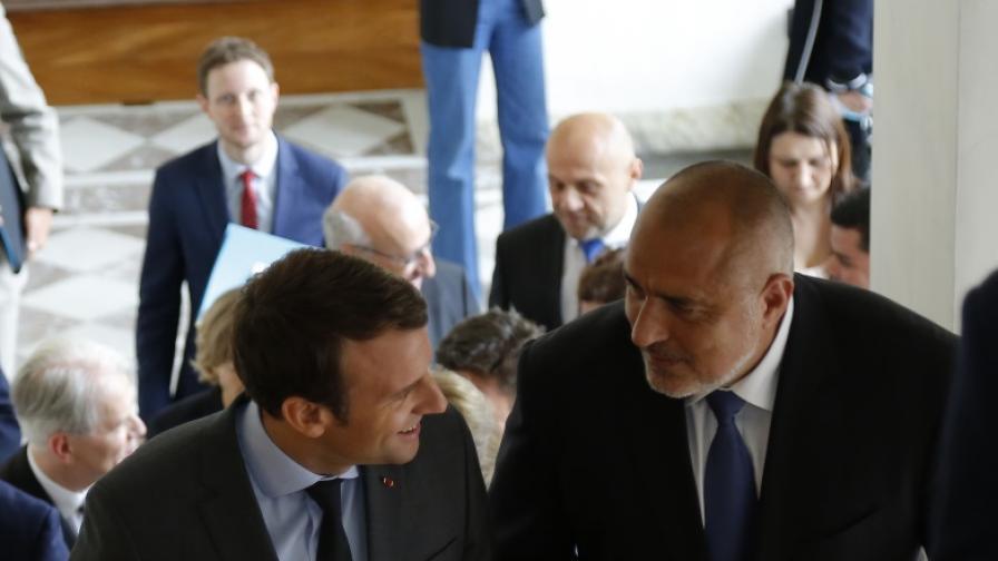 Среща на премиера Бойко Борисов с френския президент Макрон в Елисейския дворец