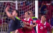 Сърбия - Уелс 0:1 /първо полувреме/