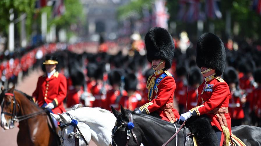 5 гвардейци припаднаха на парада за Кралицата в Лондон