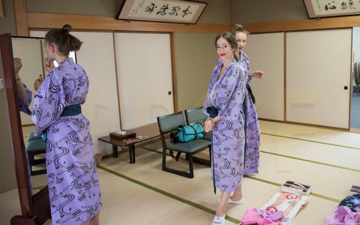 Грациите ни блестяха в кимона