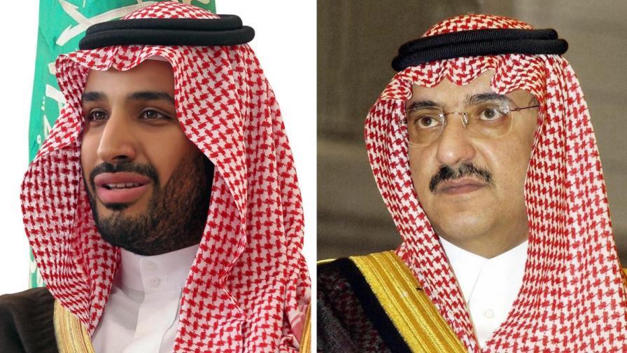 Принц Мохамед бин Салман (вляво) измести принц Мохамед бин Найеф като наследник на трона на Саудитска Арабия