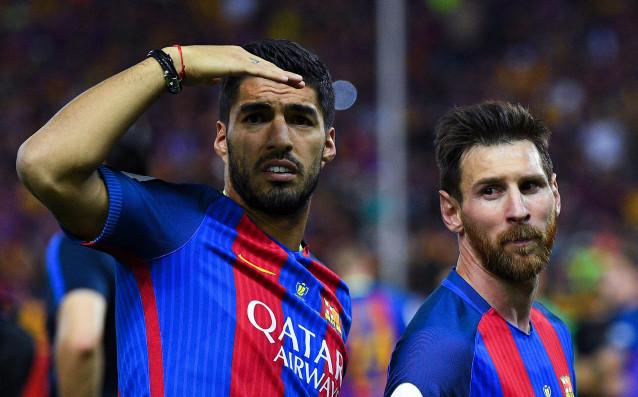 Луис Суарес и Лионел Меси източник: Gulliver/Getty Images